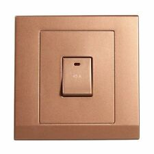 Simplicity Bronze Screwless 45A DP Single Cooker Switch with Neon 07304