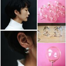 Jewelry Women Individuality Earrings Clear Glass Resin Ball Bubbles Gift Hot