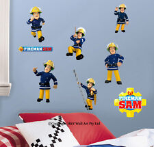 fireman sam wall mural ebay fireman sam stickers wall stickers for kids