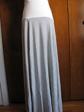 New w/tags GAP women's white with black stripes fold over maxi skirt  sz XLarge