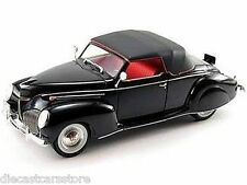 1939 LINCOLN ZEPHYR BLACK 1/18 DIECAST CAR MODEL BY SIGNATURE MODELS 18102