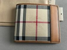 Burberry Men's Wallet Horseferry Check / Tan NWT!!