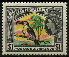 British Guiana 1954-63 SG#343 $1 Bird QEII Definitive MNH #D26566