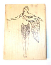 Large Judi Kins Egyptian lady rubber stamp woman Egypt travel Queen of the nile