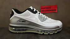 Nike Mens Air Max 90 2014 Leather White Silver Shoes (646909 102) Size: 7.5