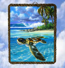 Tropical Beach Ocean 43 Wall Decor Art Prints Sea Turtle lalarry Ventage framed