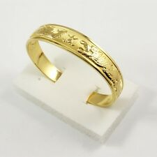 New 18k Yellow Gold Filled Open Women Carved Dragon Bangle 65MM Bracelet Jewelry