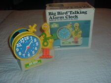 Sesame Street Big Bird Bradley Collectible Talking Alarm Clock w/Box,Green Key��