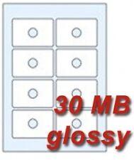 40 CD Etiketten für CD-R Visitenkarten 30 MB Hochglanz für Laserdrucker