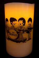 THE BEATLES cartoon ELECTRONIC FLAMELESS FLICKERING CANDLE