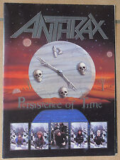 ANTHRAX  PERSISTENCE OF TIME   PROGRAMME DE CONCERT OUVRANT EN POSTER