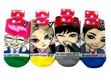 KPOP SEVENTEEN 4 Members Cartoon Casual Ankle Socks For Women & Girls