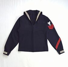 WWII Navy Blue Wool Cracker Jack Sailor Medic US Military Service Jacket XS
