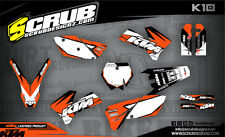 SCRUB KTM graphics decals kit SX SXf 125 250 450 525 '05 -'06 MX 2005-2006