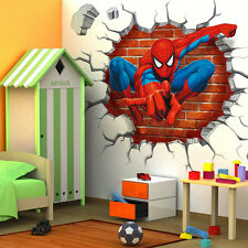 3D Spider Man Wall Sticker Removeable Mural Decals Poster F Kids Nursery Bedroom