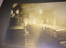Antique Occupational Textile Workers, In Shop! Pet Dog! Animal Photo on Board!