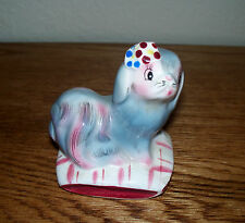 Vintage ceramic Pekinese dog on pillow Figurine shaker