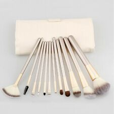 12PCs Professional Makeup Brushes set Synthetic Kakubi Cosmetic good beige BY161
