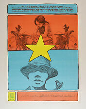 1974 Cuban Original Political Poster.Cold War propaganda.VIETNAM.Asian art.