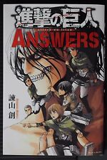"JAPAN Hajime Isayama: Attack on Titan / Shingeki no Kyojin ""Answers"" Guide Book"