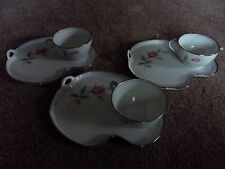 3 SETS! Tea Cup Snack Dessert Plate luncheon Noritake China Japan 6044 RoseMarie