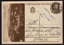 STORIA POSTALE REGNO 1937 Intero 30c da Carlentini a Firenze (NT8)