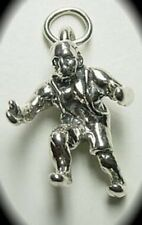 WOW Frankenstein Monster Igor Zombie Haunted Halloween charm Jewelry Sterling Si
