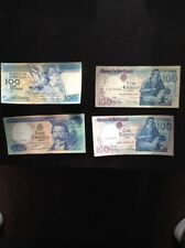 1978-1981-1984-1987 100 Escudos From Portugal (4 Bills Included)