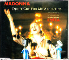 CD SINGLE MADONNA don't cry for me Argentina 4-TRACKS GERMANY 1996 EVITA