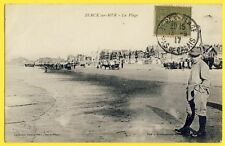 cpa Visé à Boulogne sur Mer BERCK sur MER en 1917 (Pas de Calais) La PLAGE Animé