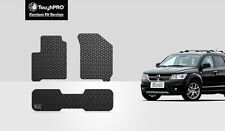 ToughPRO Black Rubber Heavy Duty Custom For 2009-2017 Dodge Journey Floor Mats