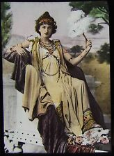 COLOUR Glass Magic Lantern Slide HERODIAS C1900 DRAWING RELIGION