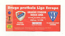 Orig.Ticket   Europa League 10/11   BORAC BANJA LUKA - LAUSANNE SPORTS ! SELTEN