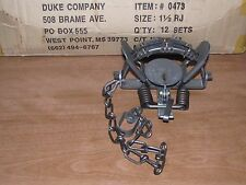 1 Duke # 1 1/2 Rubber Jaw Coil Spring Trap 0473 Raccoon Mink Nutria Trapping