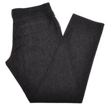 Ermenegildo Zegna Luxury Jeans Cotton Linen 38 54 Black 10JN0161 $395