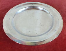 plat rond metal argente alfenide silver plated