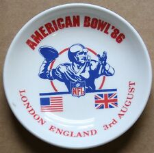 "1986 American Bowl Chicago Bears vs. Dallas Cowboys 4 1/4"" Wedgewood Sweet Dish"