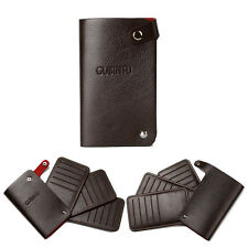 Men's Slim PU Leather ID Credit Card Wallet Multi Card ID Capacity Compact