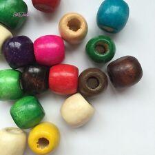 10 Pc wooden multi coloured dread dreadlock Bead cuff clip approx 8mm hole clip