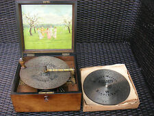 Kalliope 6 Blechplatten 23,5cm Spieluhr 6 Bells Music Box with 6 Discs 9 1/4""