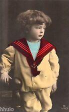 BJ233 Carte Photo vintage card RPPC Enfant colorié portrait mode marin fashion