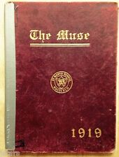 1919 ST. MARY'S SCHOOL AND COLLEGE YEARBOOK, THE MUSE, RALEIGH, NC
