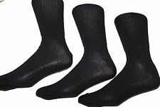 12 pairs mens black Extra wide bigfoot socks