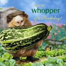 Funny Guinea Pig Birthday Card What A Whopper, Vegetable Gardener Allotment Card