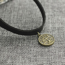 Libra Sign Pendant Leather Choker Necklace Zodiac Jewelry Birthday Gift for Her