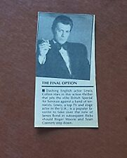 Professionals Lewis Collins The Final Option Who Dares Wins Next Bond Article