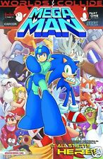 MEGA MAN #24 - WORLDS COLLIDE PART 1 (ARCHIE SONIC HEDGEHOG SPAZ FLYNN SEGA) NM