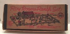 Roy Rogers Ranch Set Playset 3979-3980 Marx 1952 Rare Double R Bar