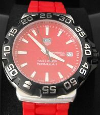 ORIGINAL TAG HEUER FORMULA 1 WAH1112.BT0706 RED RUBBER SWISS QUARTZ WATCH
