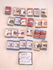 Old Fashion Grocery Tins Set - dollhouse miniature plastic 24pc set H2275